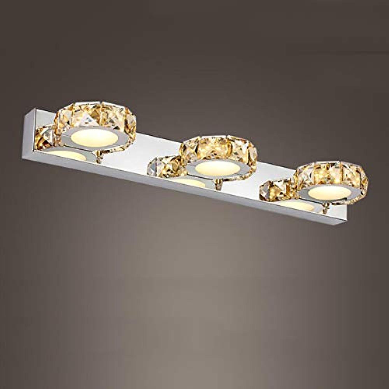 SXFYWYM Crystal Bathroom Mirror Light Three Head LED Modern Style für die Verkleidung der Tischbeleuchtung,B,46cmwarm