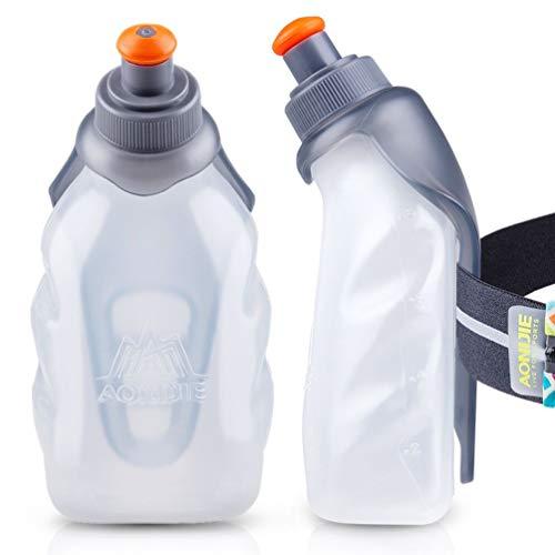 AONIJIE Running Water Bottle Clip 8.5 Oz (250ml) BPA-Free Bottle Holder for Hydration belt Packs for Running, Marathon, Walking, Hiking, Cycling, Trail, Skiing