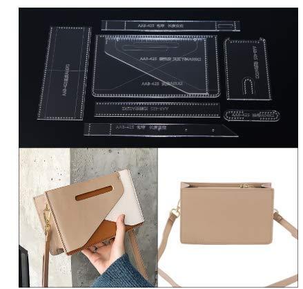 N / A 1set DIY Women Shoulder Bag Purse Sewing Pattern Leather Handmade Craft Acrylic Stencil Template 12 * 20 * 6cm