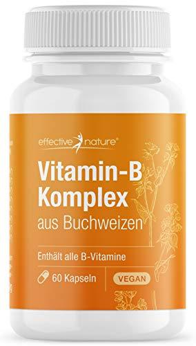 Vitamin B Komplex aus Buchweizen - Vitamin B Kombipräparat mit Folsäure - 60 Vegane Kapseln (30 g)