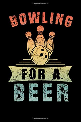 Bowling For A Beer: Beer Tasting Review Book | Cool Alcoholic Brewing Notebook Log Hops Brewer Mini Notepad Journal (6