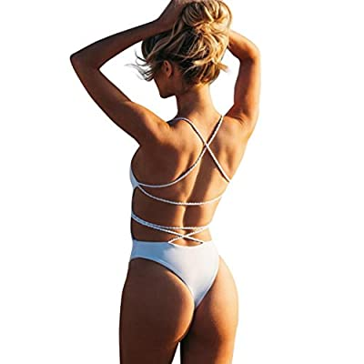 WensLTD Clearance! Sexy One Piece Women Bandage Thong Bikini Swimsuit Swimwear Bathing Beachwear