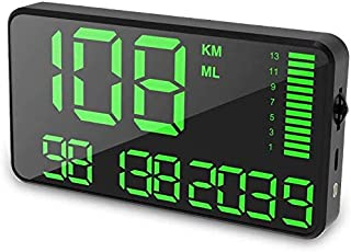 Maizad GPS Speedometer Odometer HUD Digital Display 5.5 inch MPH/KMH with Over Speeding Alarm for All Vehicle Auto Truck Bicycle Motorcycle, Speed, Driving Mileage, Time Calculation
