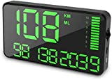 Maizad GPS Speedometer Odometer HUD Digital Display 5.5 inch MPH/KMH with Over Speeding