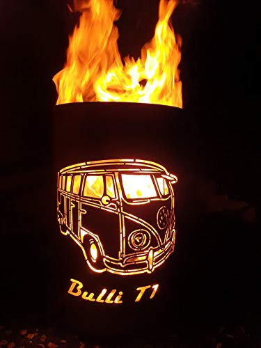 Tiko-Metalldesign Bulli T1 Feuertonne/Feuerkorb