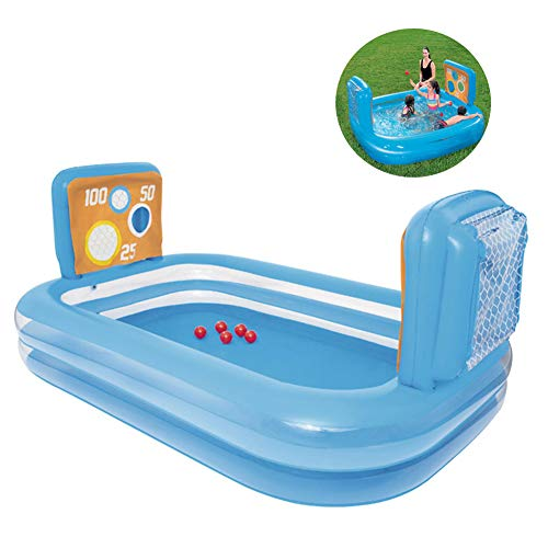 Opblaasbare Zwembaden, 237X 152X94cm Rechthoekige Voetbal Familie Zwembad Kinderbad Pool Opblaasbare Ocean Ball Pool, Geschikt Voor Kinderen Ouder Dan 3 Jaar
