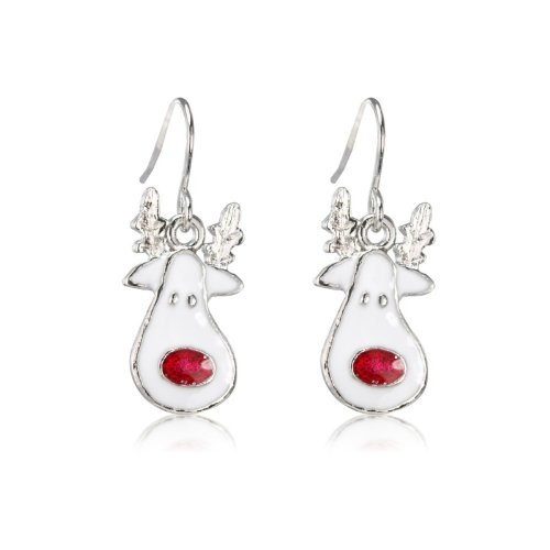 Reindeer Christmas earrings arrives in gift bag for women and children