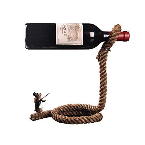 Botellero Estante Simple Europeo del Vino Estante del Vino del gabinete del Vino Adornos Mago Cuerda Estante de la Botella de Vino Vino Estante
