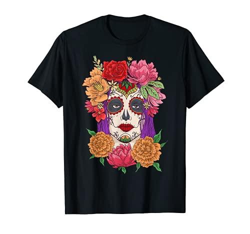 Day Of Dead - Disfraz de muertos con mscara de calavera Camiseta