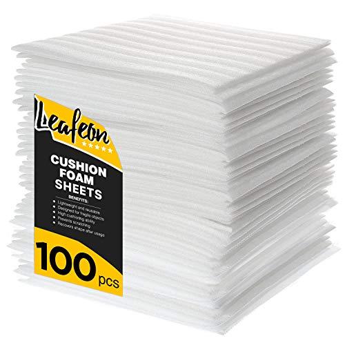 30 x 30 cm Foam Wrap Verpackung zum Verpacken beim Umzug, Schaumfolie Verpackung ist eine Alternative zur Luftpolsterfolie & Umzugskartons - tragbares Verpackungsmaterial Packmaterial – 100 Stk