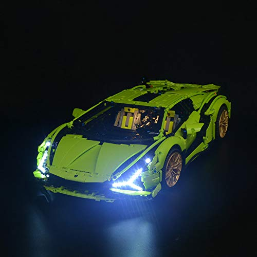 FADF Licht LED Beleuchtung Set für Lego Lamborghini Sián FKP 37 42115 - Nicht Enthalten Lego Modell