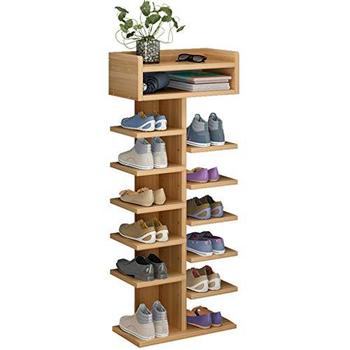 Shoe rack Fuerte Zapatero de Puerta Moderno y Simple Zapatero de Montaje doméstico de múltiples Capas Simple Almacenamiento en casa