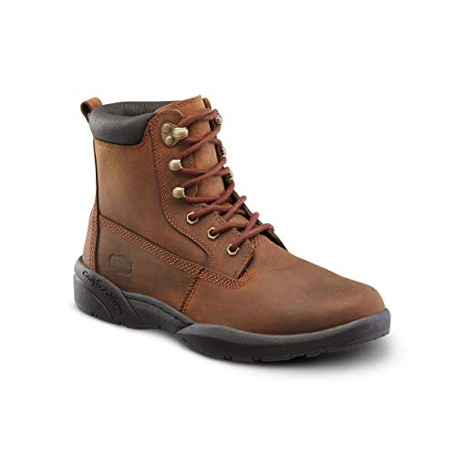 Dr. Comfort Men's Boss Diabetic Boots: Chestnut 9.5 Medium (B/C/D)