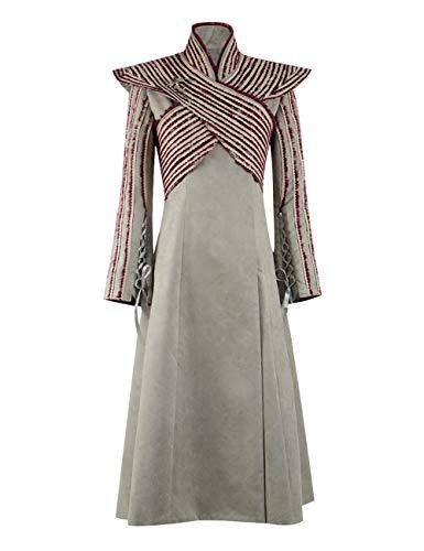Yewei 2019 TV Serie Thrones Game Drachenmutter Cos Kleidung Schal Mantel Halloween Kostüm (Emilia, L)