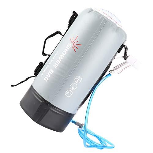 minifinker Bolsa de baño para Exteriores, Bolsa de Ducha para Exteriores de 12 l, tecnología Avanzada de Voltaje de Alta frecuencia para bañarse Durante acampadas al Aire Libre