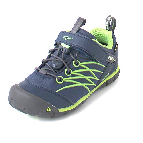 Keen Unisex Baby's Chandler CNX WP Hiking Shoe Dress Blues/Greenery 8 Toddler US Toddler