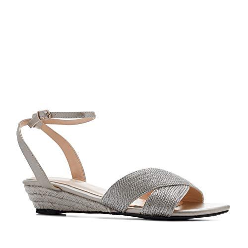 Sandalias de Mujer de Verano con cuña de Yute - Andres Machado AM5437 - Cuñas Muy cómodas Materiales - Sandalias de pequeñas y Grandes de la 32 a la 35 y de la 42 a la 45