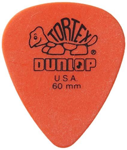 Dunlop Tortex Standard, 0.60mm, Orange Guitar Pick, 72 Pack