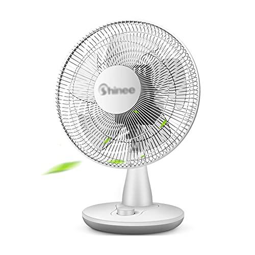 Ventilador de escritorio portátil, Ventiladores de escritorio, Ventilador eléctrico de piso, 3 velocidades, Ventilador de enfriamiento oscilante, Ventilador de circulación de aire, Blanco