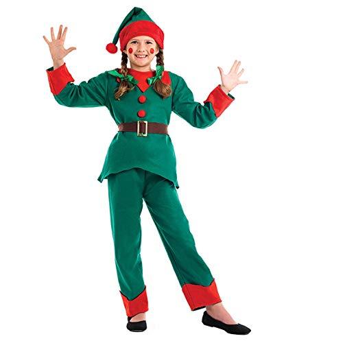 Elf - Enfants Costume de déguisement de Noël - XL - 148cm - Age 10-12