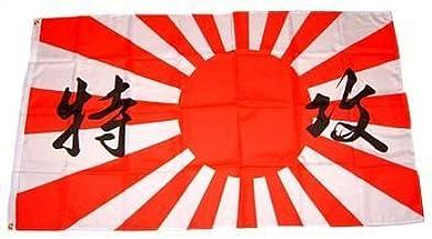 FahnenMax® Kamikaze – mm Japón Bandera/Bandera, Resistente a la ...