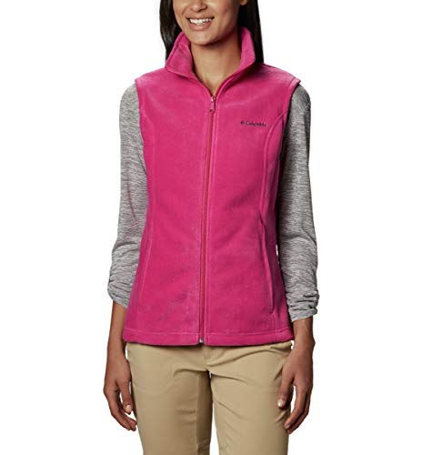 Columbia Women's Benton Springs Soft Fleece Vest, Fuchsia, X-Large