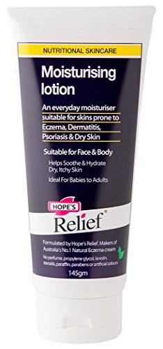 Hope's Relief Lotion Hydratante Formule Naturelle pour les Peaux Sensibles/Sèches Sujettes à l'Eczéma pour Bébé/Enfant/Adulte