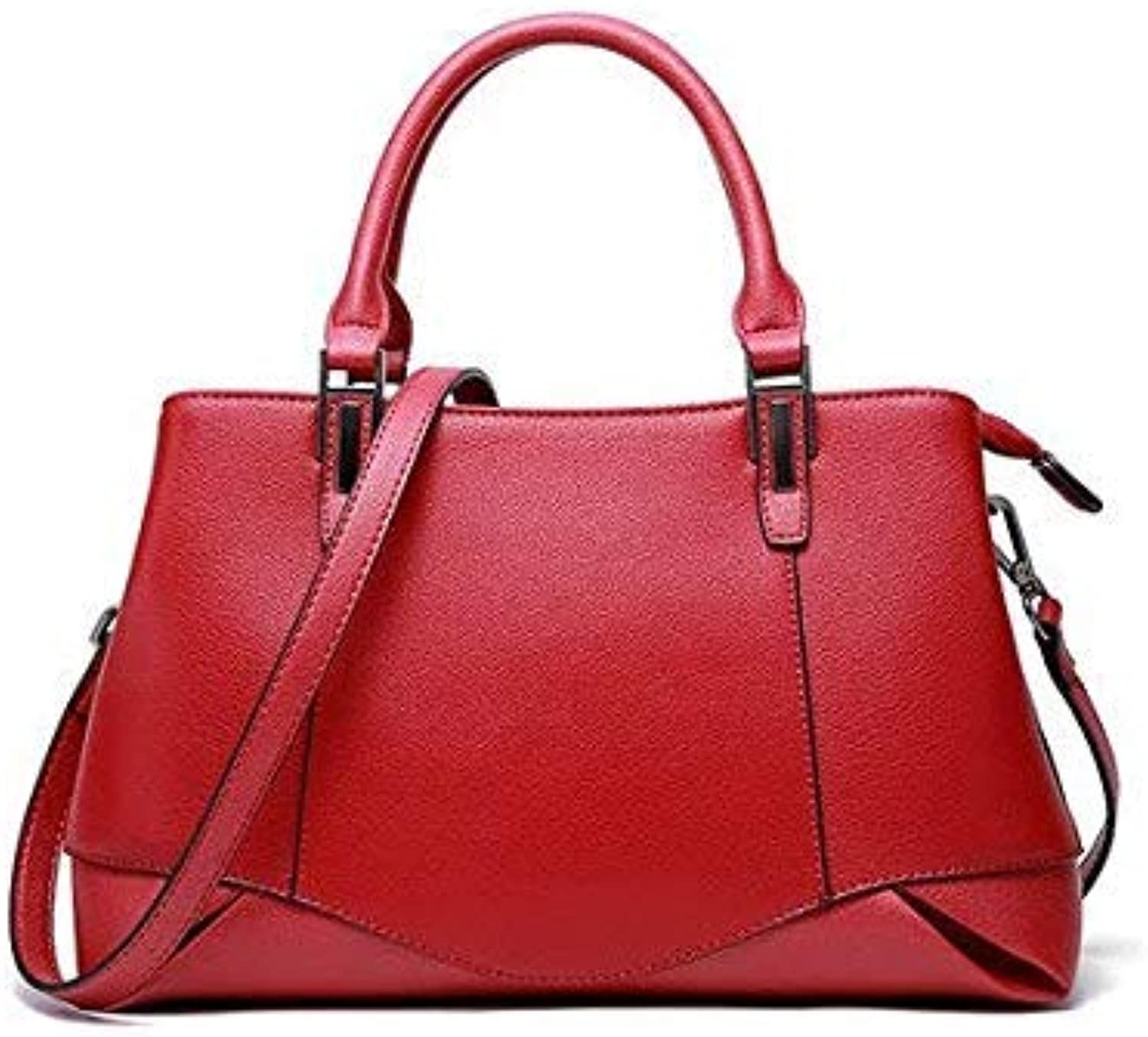 Bloomerang Bag Women Genuine Leather Handbags Genuine Leather Crossbody Bag for Women Natural Leather Tote Bag Ladies Hand Bags color Burgundy 32x13x18cm