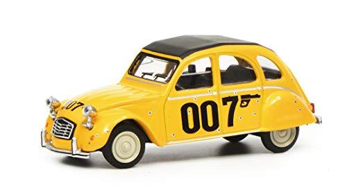 Schuco 452016600 Citroen 2CV 007, 1:64 452016600-Citroen, Modellauto, Modellfahrzeug, gelb, schwarz