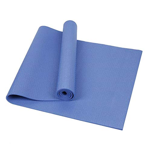 Zilosconcy Esterilla Yoga Colchoneta de Yoga Antideslizante con Material ecológico PVC con líneas corporales Yoga Mat diseñado para Entrenamiento y Entrenamiento físico-173 x 61 x 0.4 cm
