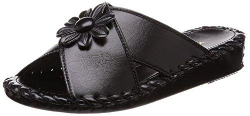 [パンジー] ルームシューズ ヒールスリッパ レディース PN9370 ブラック 23.0~23.5 cm