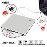 External CD DVD Drive Burner Player USB Type-C Portable Slim DVD/CD ROM Superdrive
