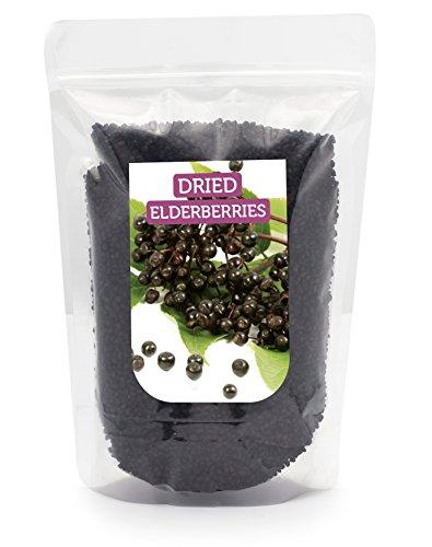 HerbaNordPol Holunderbeeren getrocknet 1kg PREMIUM, Fructus Sambuci