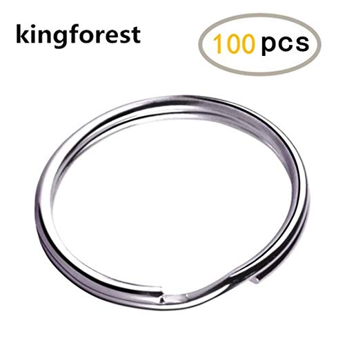 Keychains Belts and Dog Leash Hand DIY Accessories 150 Pieces Metal D Rings 1 Inch Non Welded Nickel Hardware Bags Ring for Sewing