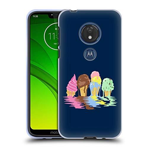 Head Case Designs Offizielle Rachel Caldwell EIS Fluss Abbildungen Soft Gel Huelle kompatibel mit Motorola Moto G7 Play
