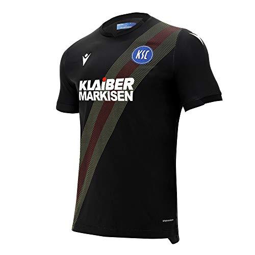 Macron Karlsruher SC Ausweichtrikot 20 21 schwarz KSC Third Shirt Fan Jersey, Größe:XL
