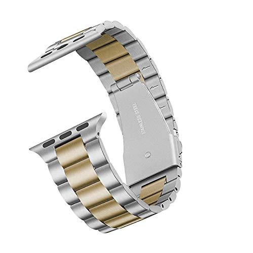 Adecuado para Apple Watch SE series 6/5/4/3/2/1 38 mm 40 mm 42 mm 44 mm Correa de reloj de metal de acero inoxidable de una sola pieza Correa de reloj de repuesto universal Apple iwatch Correa unisex