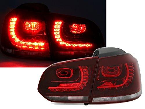 Depo LED Rückleuchten Set Klarglas Rot Weiß Heckleuchten Rücklichter