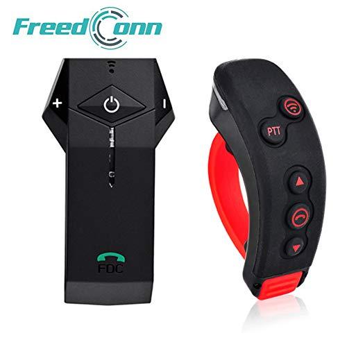 FreedConn Colo-RC Casco de Motocicleta Intercomunicador Bluetooth Intercomunicador,con Control Remoto de Manillar...