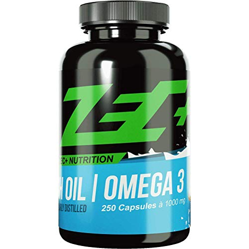 ZEC+ hochdosierte OMEGA-3-Fettsäuren 250 Kapseln | Fischöl | EPA DHA |