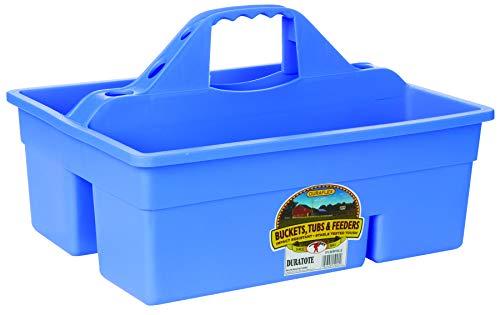 Miller Manufacturing Plastic Dura Tote Box Organizer Compartment Groom Berry Blue