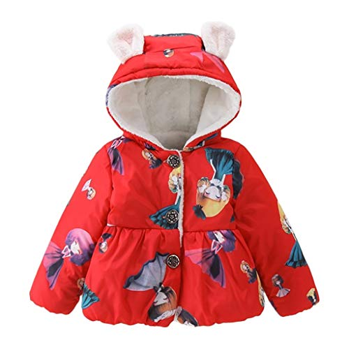 Kleinkind Baby Daunenjacke Winterjacke Hooded Taste Jacket Steppjacke Gefüttert mit Kapuze Jungen Mädchen Cartoon Daunenmantel Kurzmäntel Wintermantel Yuiopmo