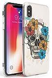 Case Warehouse Floral del cráneo del azúcar Slim Funda para iPhone XR TPU Protector Ligero Phone Protectora con Arte Tendencia Dia De Los Muertos Día De Muertos