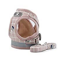 Puppy Small Dog Cat Harness Leash Set Small Chest: 13.77in, Leash length: 47.24in, recommend for pet weigth: 3.3 - 6.6LB / 1.5-3kg Material: polyester breathable cosy mesh inside. Fine touch soft fabric padding outside. Durable Metal D-ring Design: R...