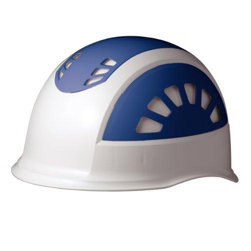 ミドリ安全 ヘルメット 作業用 ABS製 通気孔付 SC17BV RA KP付 ホワイト/ブルー