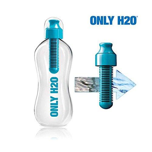 Appetitissime Only H2O Botella con Filtro de Carbono, Azul, 21.5x7.5x7.5 cm