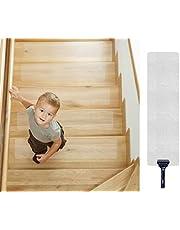 Escalera Antideslizante, Queta Franja Antideslizante para Escaleras Franja Antideslizante Transparente Alfombrillas Antideslizantes, Paquete de 15, 10 cm x 60 cm