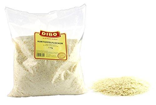 DIBO Kartoffelflocken 1Kg-Beutel, Naturprodukt, Hergestellt in Deutschland, ohne Chemie, ohne Konservierungsstoffe, ohne Farbmittel