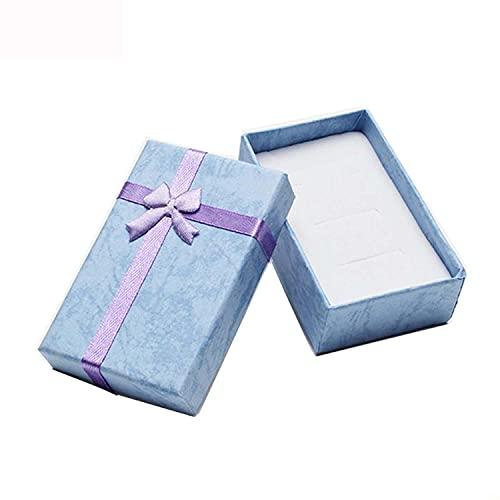 BAWAQAF - Scatola regalo per collana, orecchini, anelli, carta, gioielli