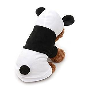 UEETEK Vêtements pour chiens Pyjamas Panda chien Manteau de chiot à capuche Costume de vêtements pour chiens chiot